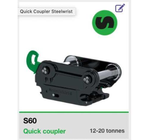Steelwrist Snelwissel S6/S60 Koppelstuk