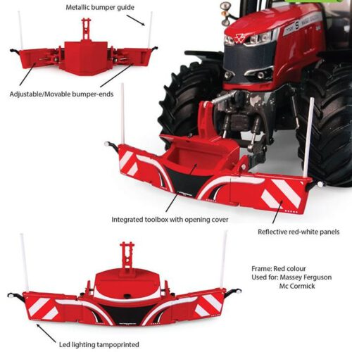 Tractorbumper Safety Weight 800Kg Rood