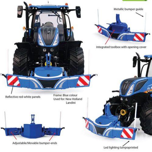 Tractorbumper Safety Weight 800 Kg Blauw