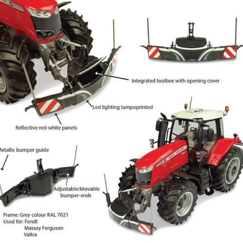 Tractorbumper Safety Weight 800 Kg Grijs