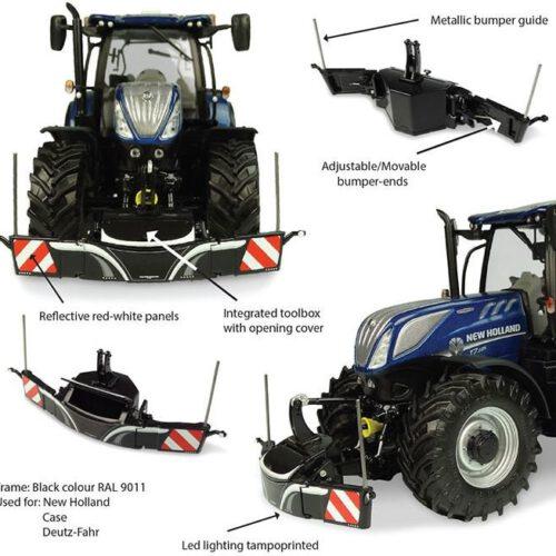 Tractorbumper Safety Weight 800 Kg Zwart